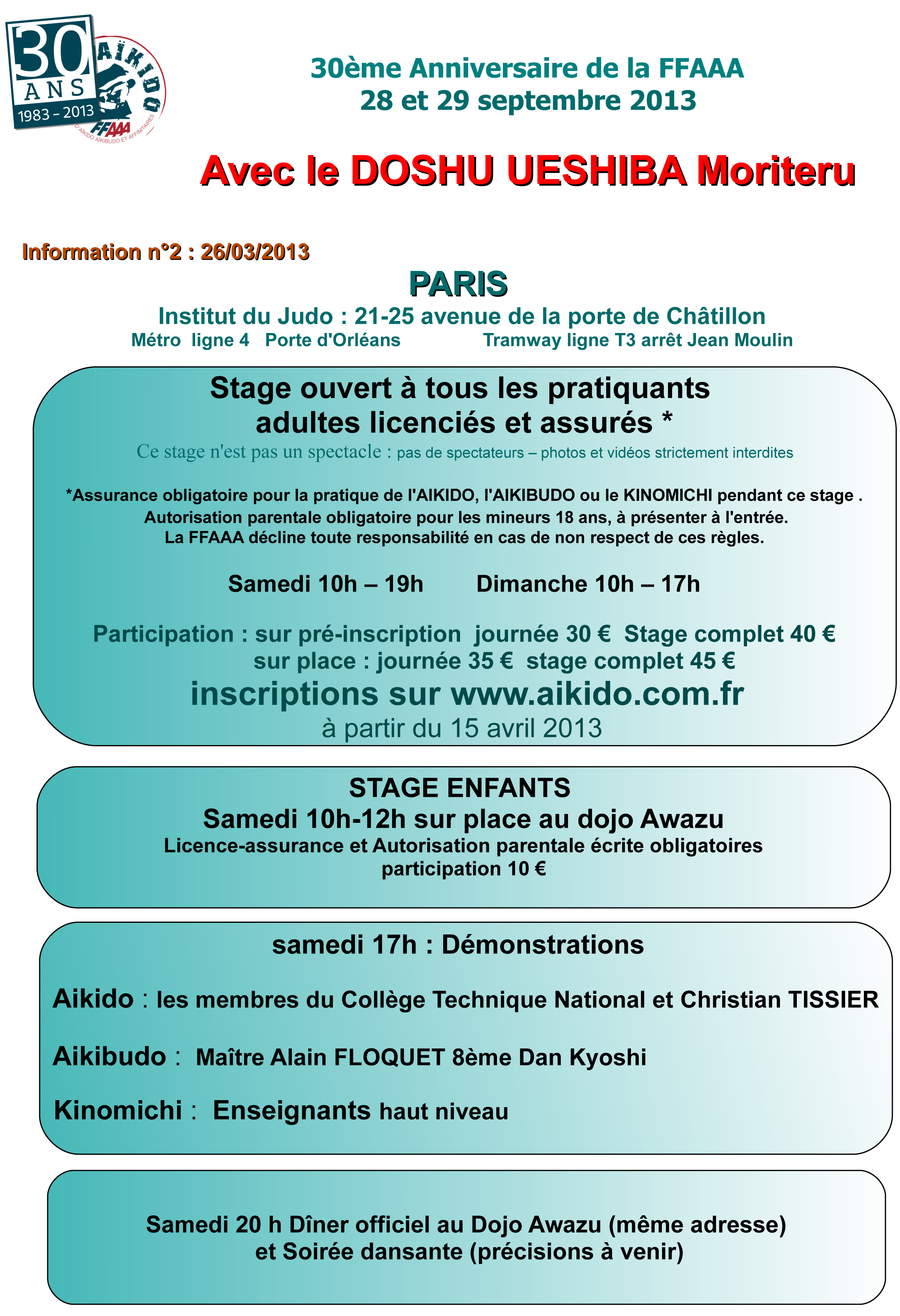 30 anniversario ffaaa parigiaiki dojo roma - Institut national du judo porte de chatillon ...